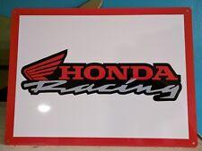 Honda Racing metal sign Motor Cycle mechanic Garage advertising 9X12 50056