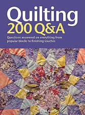 Quilting: 200 q&a par Jake Finch: WH2-R3D: HB609: Nouveau Livre
