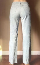 Joujou Skins High Waist Blue Genuine Leather Suede Straight Leg Pants size 7/8