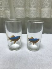 Set Kf 2 Weighted Drinking Tumbler With Fish Fishy Graphic By Leonardo