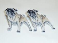 CG2854...ACRYLIC STUD EARRINGS - PUG DOG - FREE UK P&P