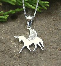 HORSE & WESTERN JEWELLERY JEWELRY LADIES  925 STERLING SILVER PEGASUS NECKLACE