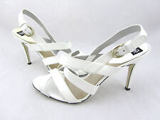 $675 DOLCE & GABBANA White Patent Leather Strappy Ankle Sandals Heels 10 41 New