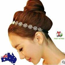 Golden Rose Flower Elastic Women Girls Hair Band Hollow Charming Headband