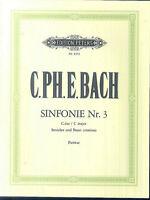 C. Ph. E. Bach - Sinfonie Nr. 3 C-Dur - Partitur