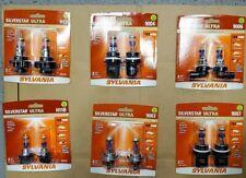 Sylvania Silverstar Ultra Halogen Lamps H1 H9 H4 H7 H11 H11B H13 9005 9006 9007