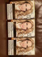 3 packs L'Oreal Excellence Age Perfect 8.31 Pure Beige Blonde Hair Dye X3