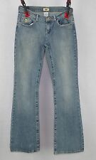 Ladies Department of Peace Juniors Flare Blue Jeans Size 7