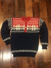 Vtg SWEATER Dale Of Norway NORWEGIAN Wool Knit Nordic PEWTER Olympic Pullover