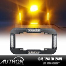 "13.5"" LED Warning Flash Traffic Adviser Strobe License plate lights Amber Yellow"