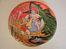 SUPER RARE Dragons Lair Arcade Laser Disc Game 8 Paper Plates 1983 Don Bluth