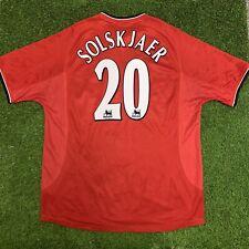 2000 2002 Manchester United Ole Gunnar Solskjaer Jersey Shirt Kit Umbro Home XL