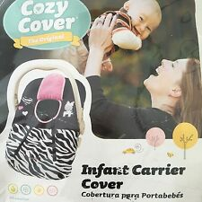 Infant Carrier Cover Original Cozy Cover in Zebra Stripe and pink New in Package
