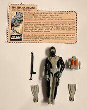 1983 Torpedo + File Card Complete GI Joe Figure