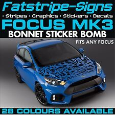 FORD FOCUS MK3 GRAPHICS STICKER BOMB BONNET DECALS CAR VINYL 1.8 2.0 2.5 ST RS