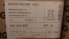 New listing Gf Type 315 Diaphragm valve, 63mm, Beta Pp/Epdm; Butt Fusion P/N 167315522
