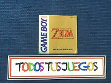 Manual The Legend Of Zelda Link's Awakening Gameboy Game Boy BUEN ESTADO