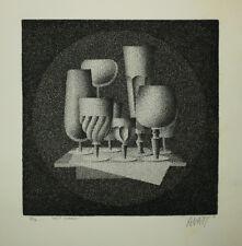 """AVATI Mario """"Huit verres"""" 1958.  EAU-FORTE ORIGINALE datée et SIGNEE Etching"""