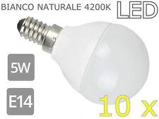 LAMPADINE LED 5W E14  OPACA 4200K BIANCO NATURALE 10x