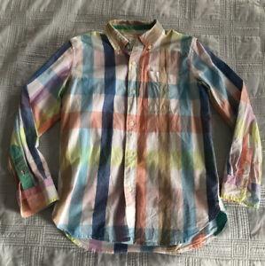 Gap Kids Plaid Button Up Easter Shirt (Size L (10))