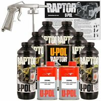 U-POL Raptor Black Truck Bed Liner Kit w/ FREE Spray Gun, 6L Upol