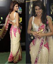 Priyanka Chopra Iifa Designer Saree~Bollywood Replica Indian Saree~Free Shipping