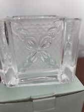 Partylite Celebration Votive Candle Holders Square Frosted Glass Original Box