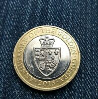 2013 £2 COIN ANNIVERSARY OF GOLDEN GUINEA RARE TWO POUNDS