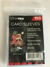"""Ultra Pro x100 Card Penny Sleeves 2 5/8"""" x 3 5/8"""" Standard Size NEW Clear Soft"""