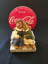 Boyds Bearstone Collection - Coca Cola - I'D Like To Teach The World To Sing
