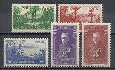 Monaco stamps 1937 YV 135-139  MNH  VF