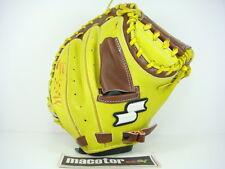 "New SSK Originator 33"" Catcher Hard Baseball Glove Yellow Brown RHT GIFT SALE"