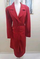 TERRAMINA Women 2PC Outstanding Elegant Red Skirt Suit Size 14