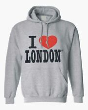 I Love London Embroidery Design Men/'s UNISEX Quality Hoodie Hooded Sweatshirt