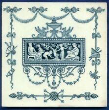 Jugendstil Fliese Kachel, Art Nouveau Tile Tegel, Wedgwood, ETRURIA, Szene antik