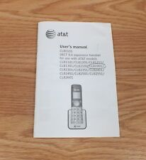 Genuine at&t (CL80101) User's Manual For at&t modeled Home Phones Only **READ**