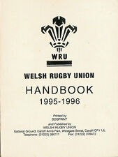 1995 -1996 Welsh Rugby Union Handbook - softcover - RUGBY BOOK