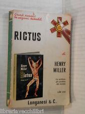 RICTUS Henry Miller Adriana Pellegrini Kenneth Rexroth Longanesi 1971 romanzo di