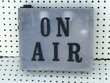 """vintage engineer-made? studio broadcast on-air sign project/parts 12x10x3"""""""