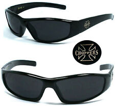 New Choppers Bikers Mens Sunglasses + Free Pouch - Black C29