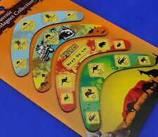 4 x Australian Souvenir Australia Boomerang Fridge Magnet Road Signs