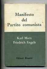 Karl Marx - F.Engels # MANIFESTO DEL PARTITO COMUNISTA # Editori Riuniti 1962