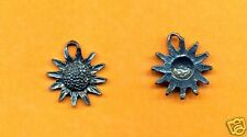 20 wholesale lead free pewter sun flower charms 1059