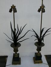 paire de lampes vase medicis bronze base noircie