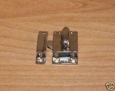 Cabinet Latch Brass Heavy Cast Nickel Plated