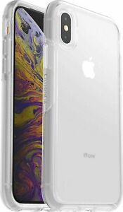 OtterBox Symmetry Series Slim Rugged  Case Cover For iPhone X XS *CLEAR*