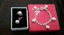 Mariellasgem - LADIES  BRACELET WITH PENDANT AND RING  in FINE SILVER .....des 4