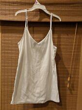 Merona Top size small vcut Ribbed Knit ScoopneckTank White Womens adj straps
