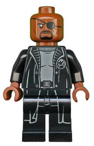 Lego Super Heroes Nick Fury sh585 (From 76153) Marvel Minifigure Figurine New