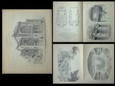 LILLE, THEATRE SEBASTOPOL - GRAVURES ARCHITECTURE 1905 - HAINEZ